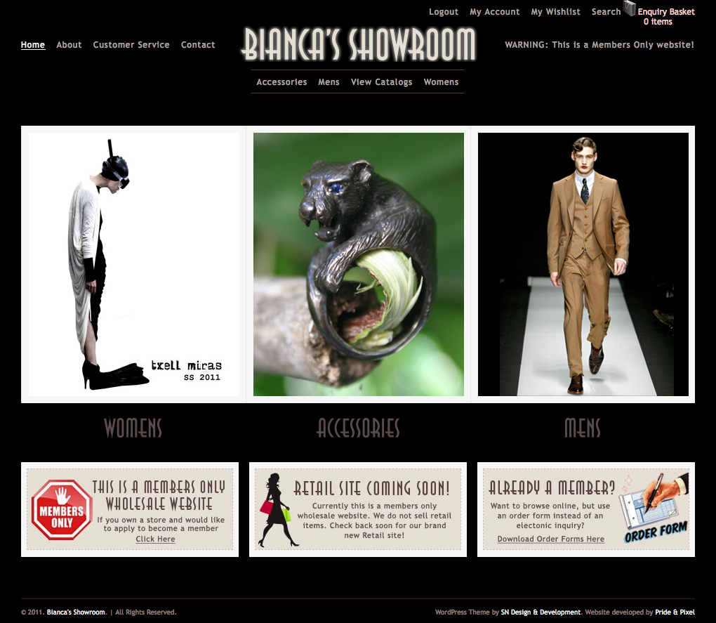 Bianca's Showroom Homepage