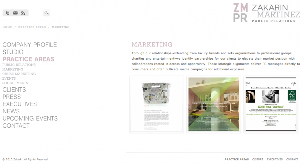 Zakarian Martinez PR Marketing Page
