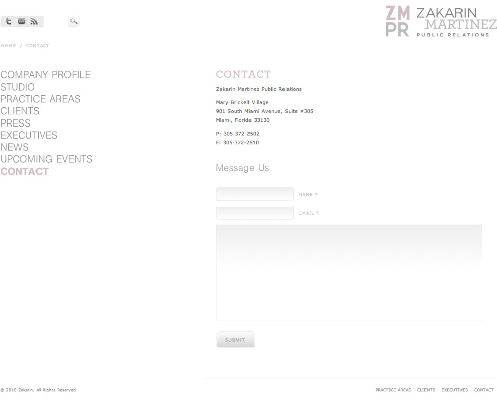 Zakarin Martinez PR Contact Page