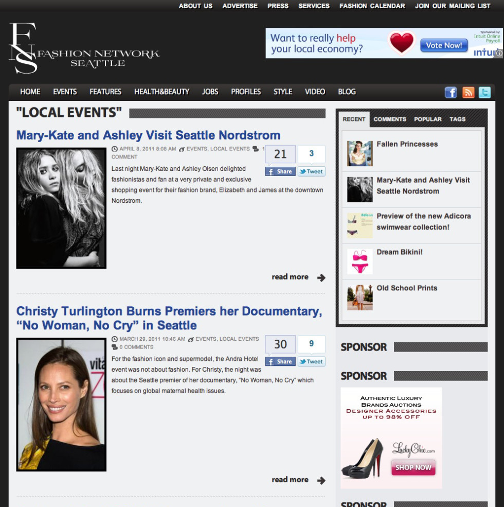 Fashion Network Seattle Events Page