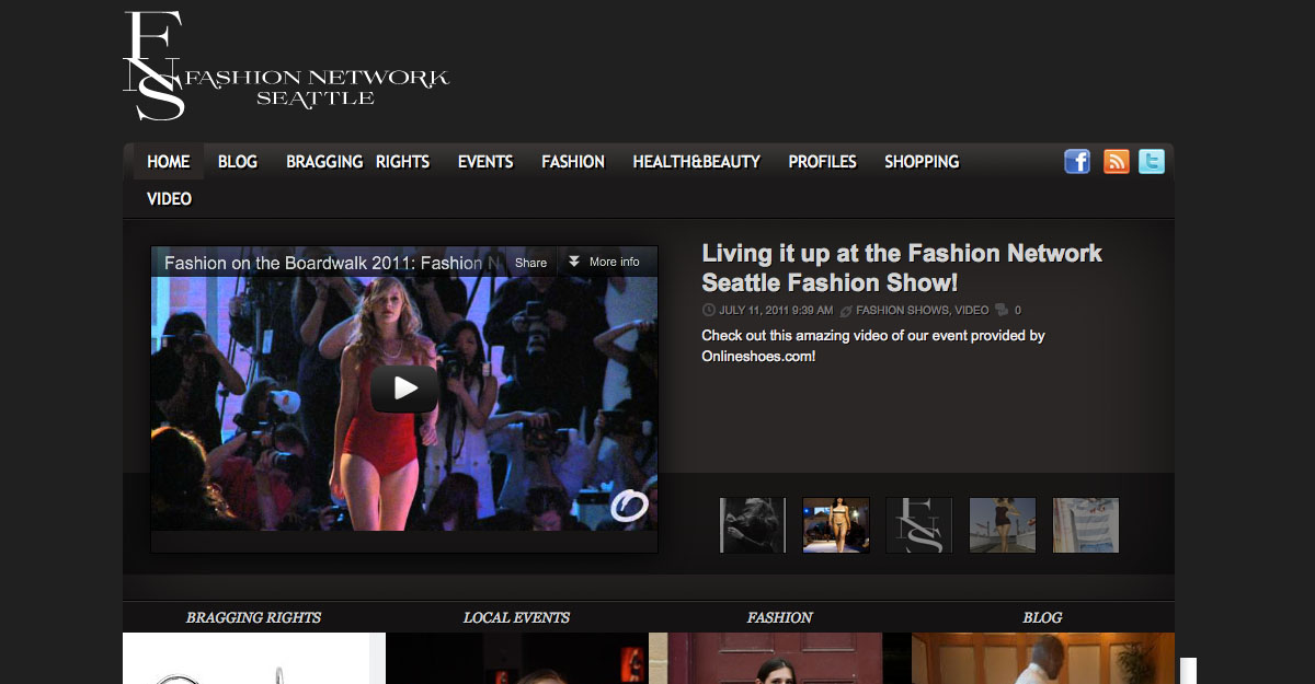Fashion Network Seattle Homepage
