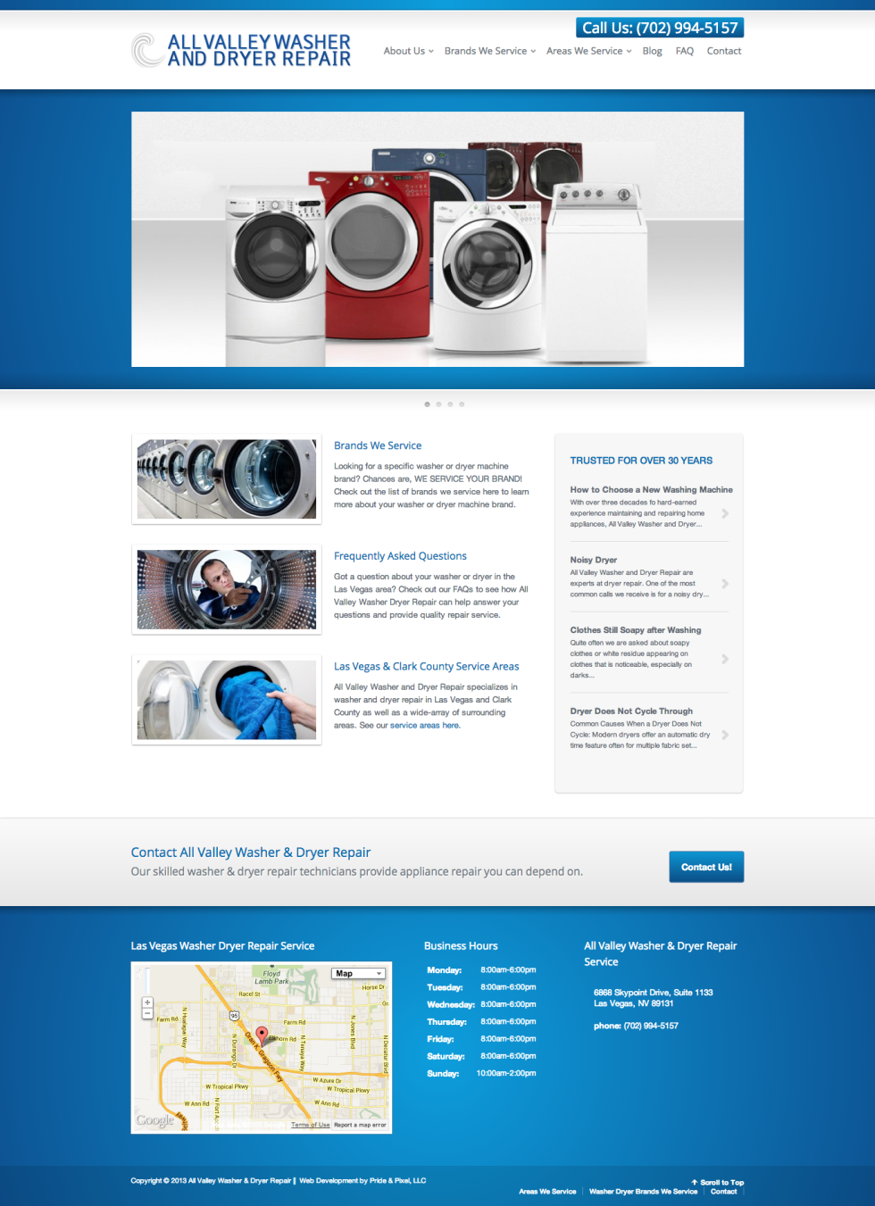 All Valley Washer Dryer Repair Homepage