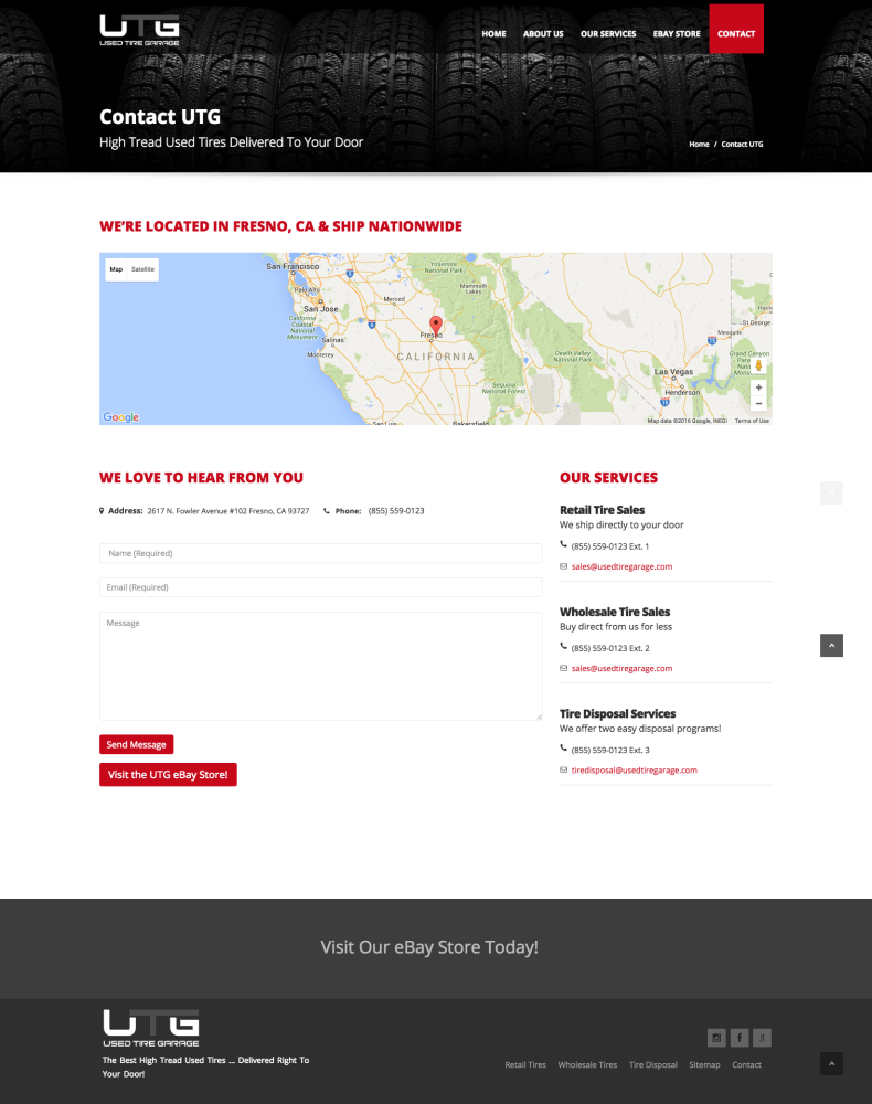 Used Tire Garage Contact Page
