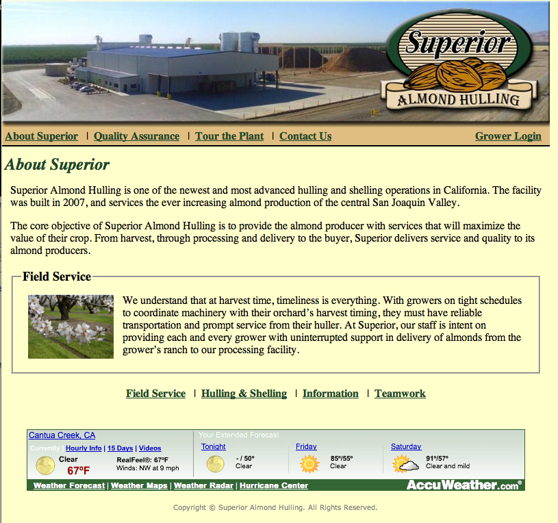 Superior Almond Old Website