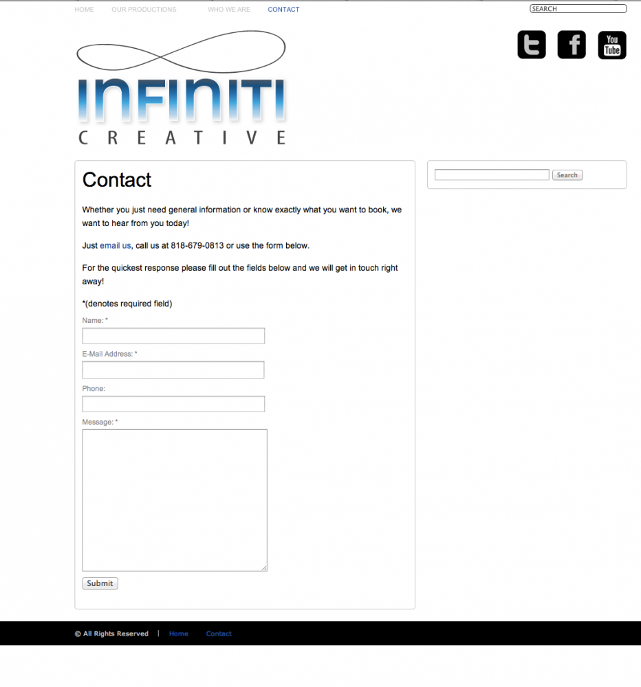 Before - OLD Infiniti Creative Contact Page