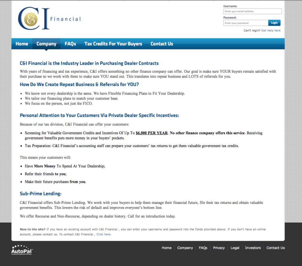 Old C&I Financial About the Company