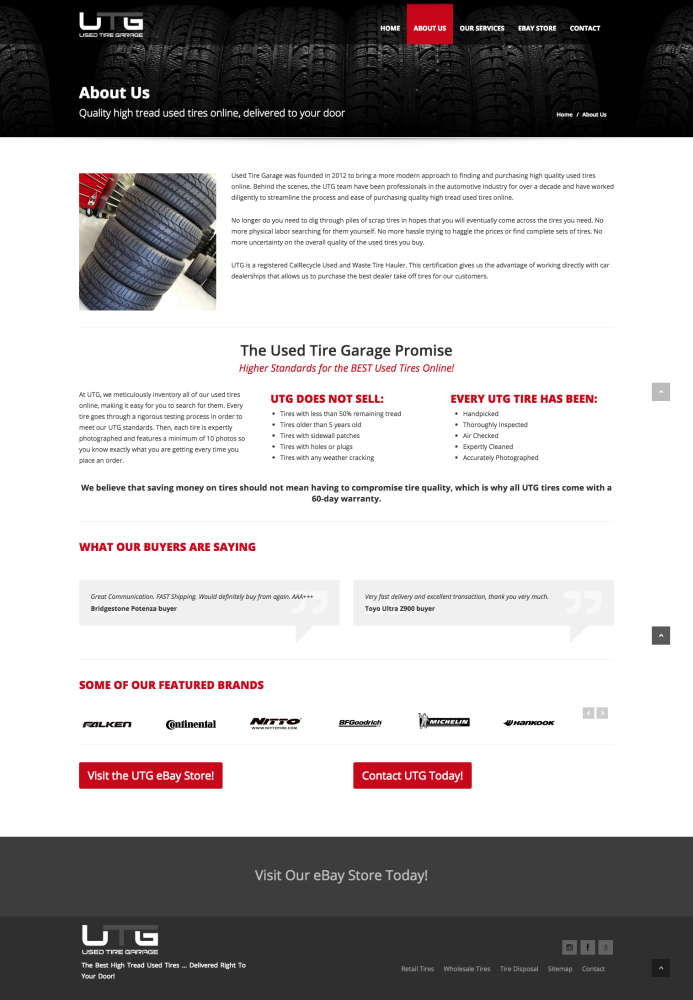 Used Tire Garage About Page